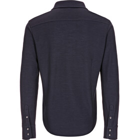 super.natural M's Piquet Shirt Blue Black